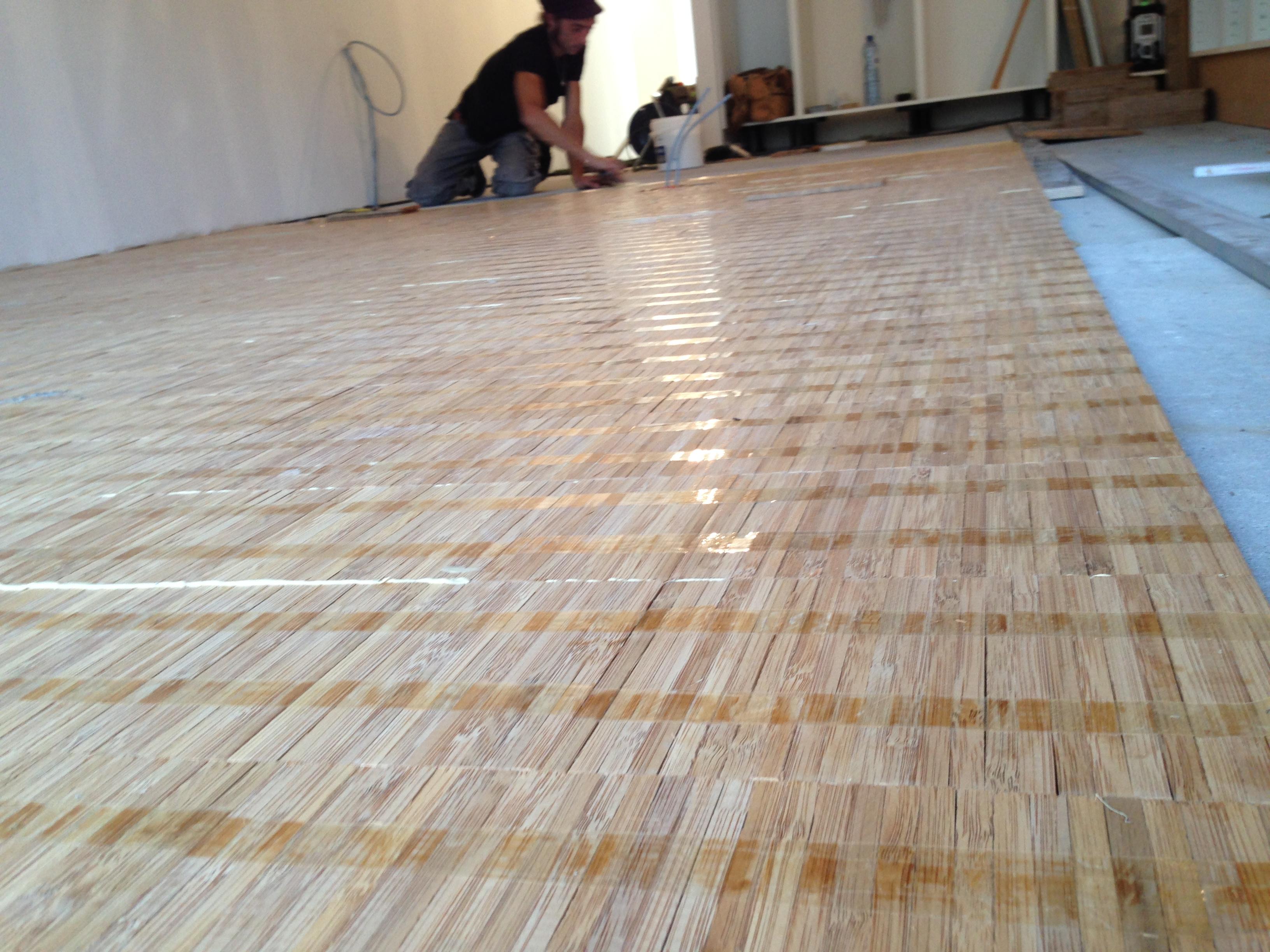 Uniek massief bamboe vloer badkamermeubels ontwerpen 2017